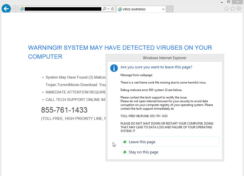 Update-and-notices.info Virus