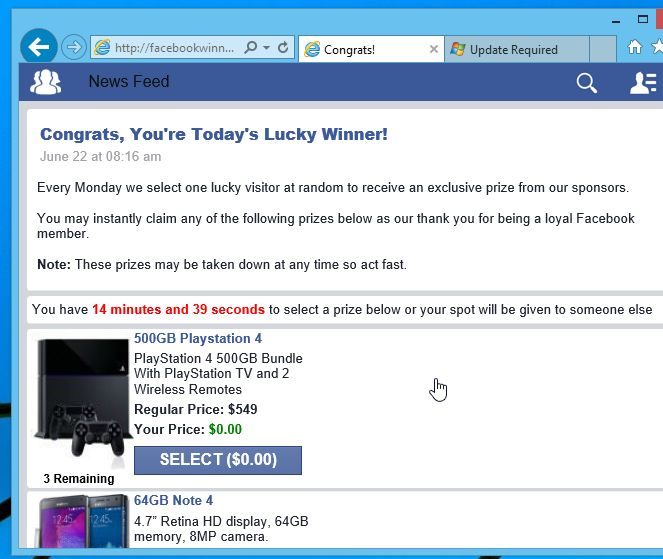 Facebookwinners.com-online.mobi Virus