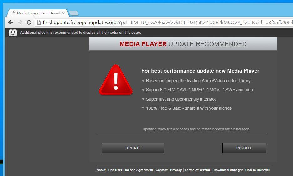 Freshupdate.freeopenupdates.org virus