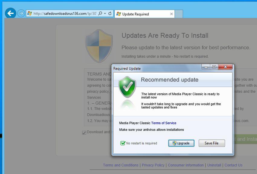 Safedownloadsrus136.com virus