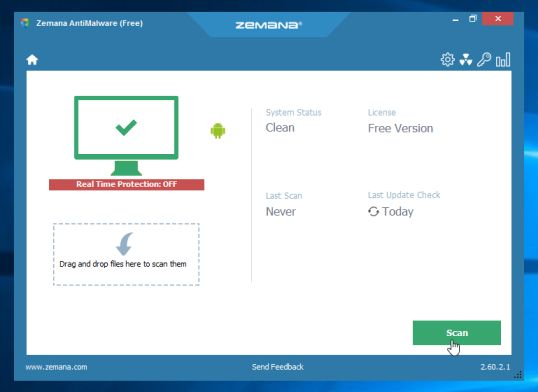 Zemana AntiMalware Free Scan
