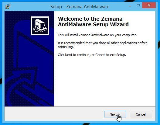 Zemana AntiMalware Setup