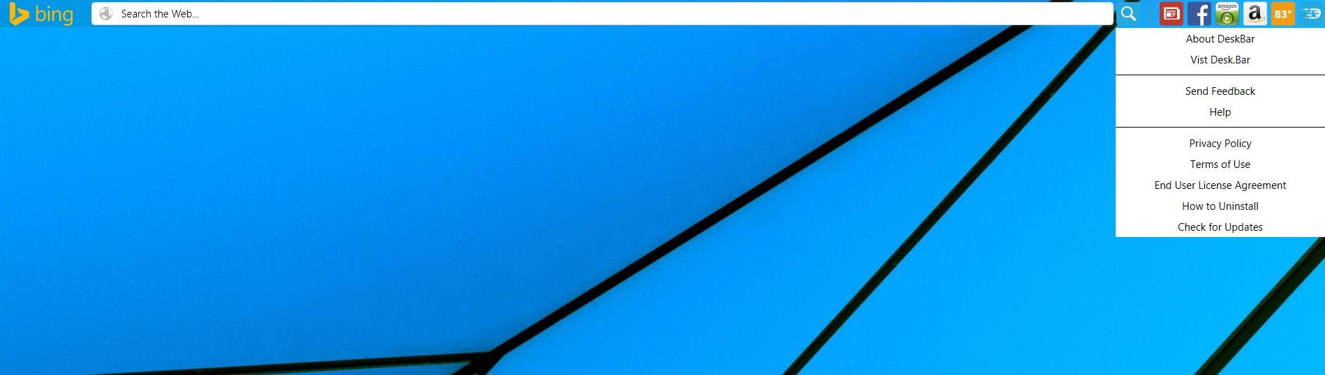 Remove DeskBar toolbar by Blue Labs (Uninstall Guide)