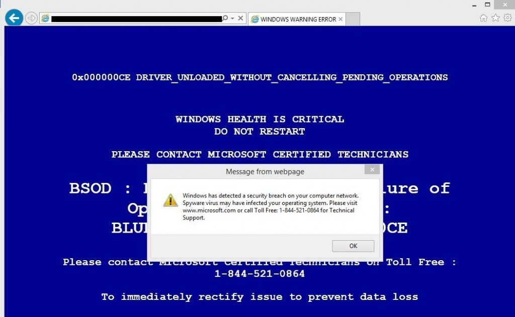 Remove Webstery In Pop Up Virus Tech Support Scam