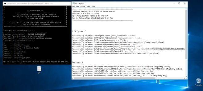 Junkware Removal Tool Report