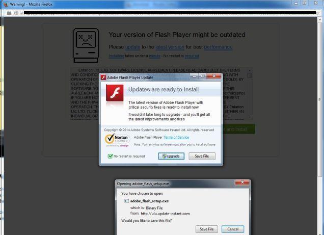 Live2update.com malware