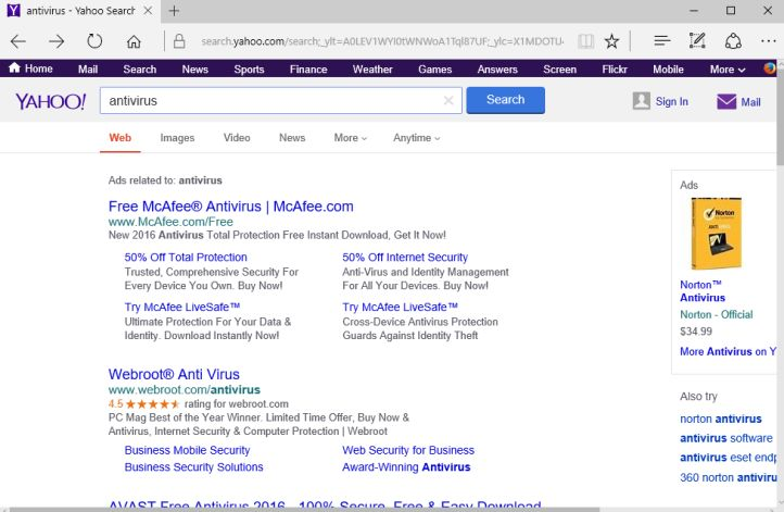 Search.Yahoo.com virus