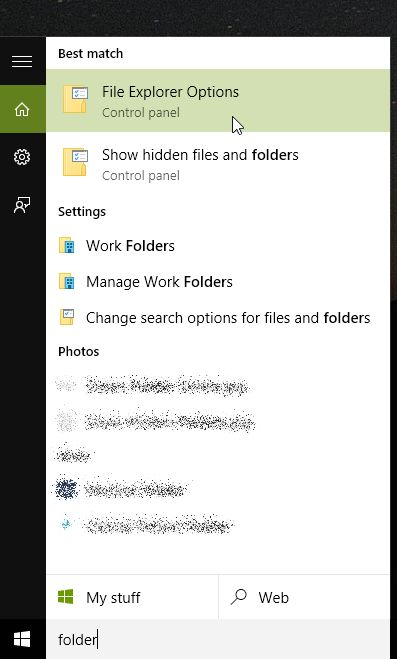 Show Hidden Folders Windows 10