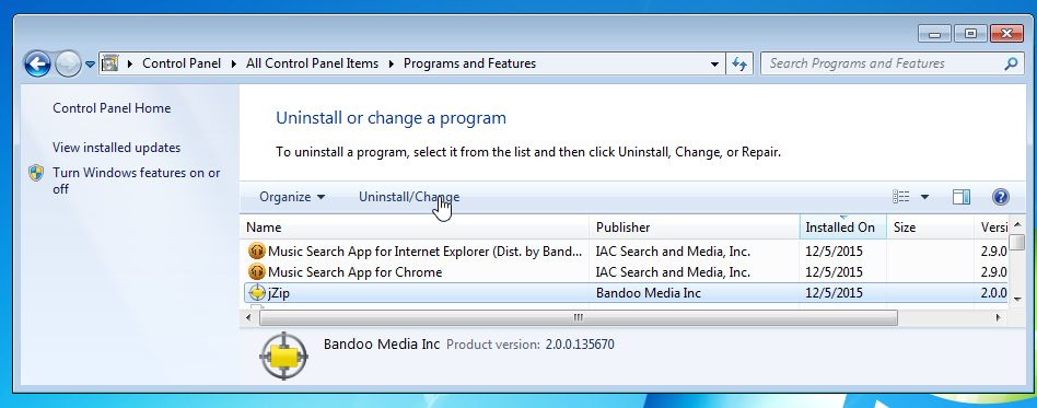 Remove jZip from Bandoo Media Inc (Uninstall Guide)
