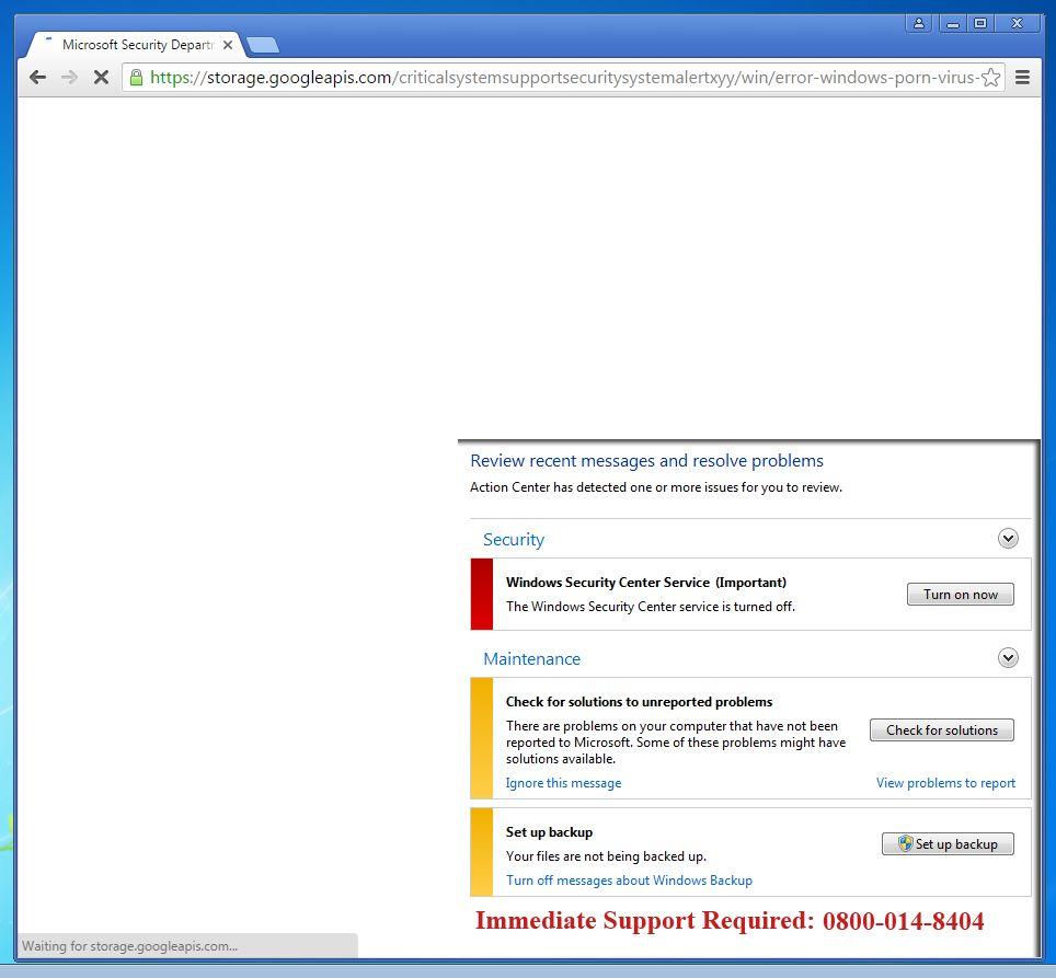 Microsoft Security Department - scam