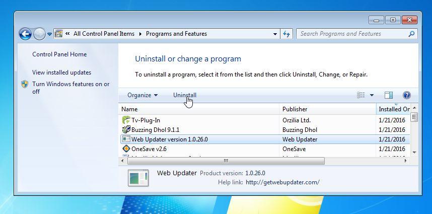 Software updater version 1 0 2