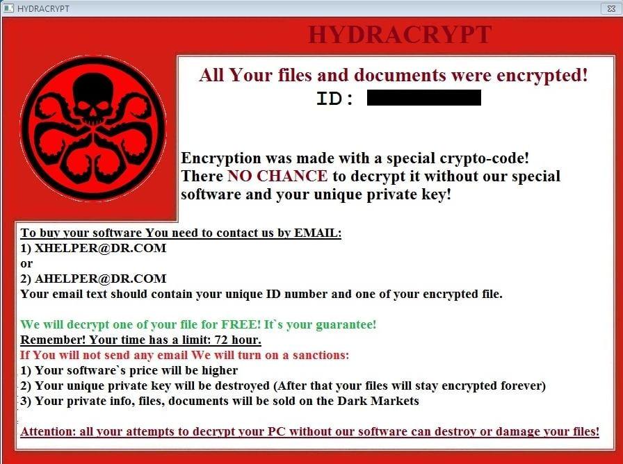 HYDRACRYPT Virus