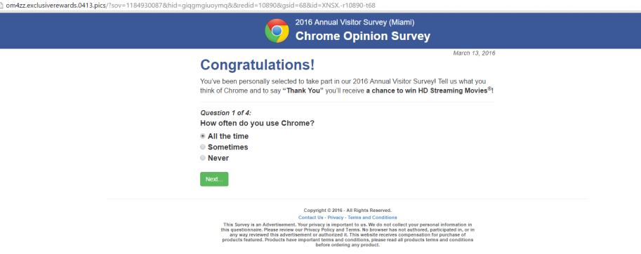 chrome scam win iphone for $1