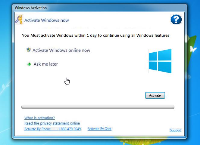 Remove Fake Windows Activation Pop-up Virus (Support Scam