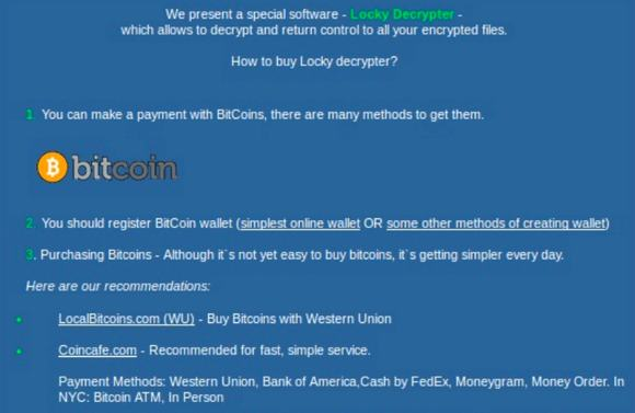 Locky Ransomware Bitcoin