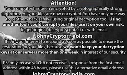 Remove JohnyCryptor@aol.com.xtbl ransomware (Files Encrypted Malware)