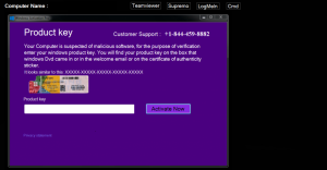 "Remove ""Windows Activation Pro"" virus (Call for Support Scam)"