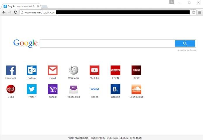 Mywebtopic.com Virus