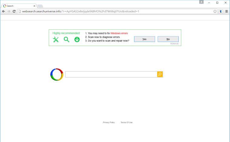 remove websearch.searchuniverse.info