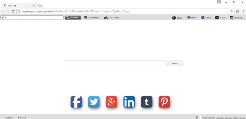 Search.topsocialtabsearch.com virus