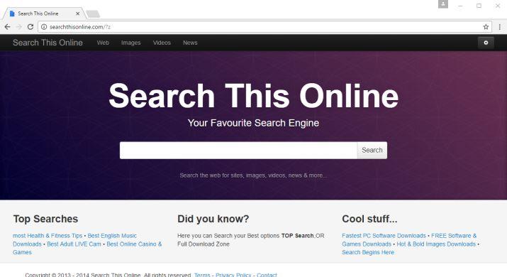 Searchthisonline.com virus