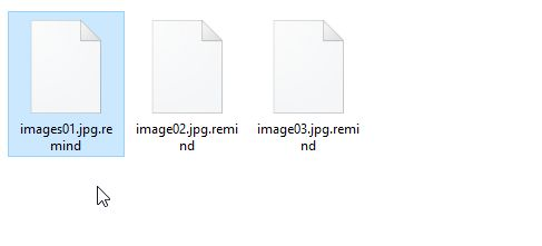 remind Files Encrypted malware