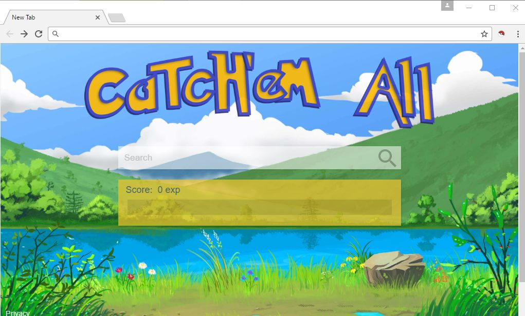 Catch'em all new tab virus