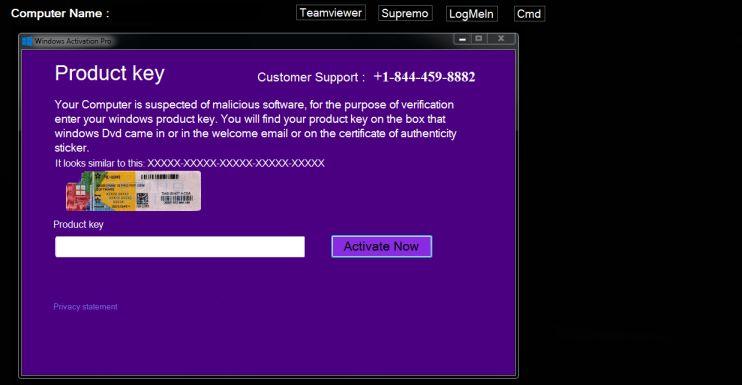 Enter A Product Key Virus