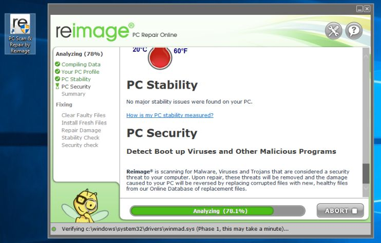 Reimage PC Repair Online pop-ups