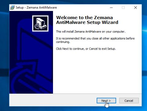 Zemana AntiMalware installation