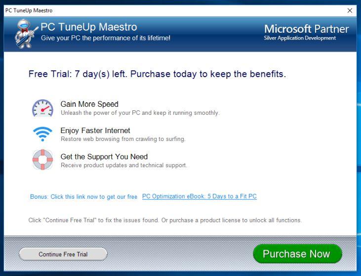 PC TuneUp Maestro malware