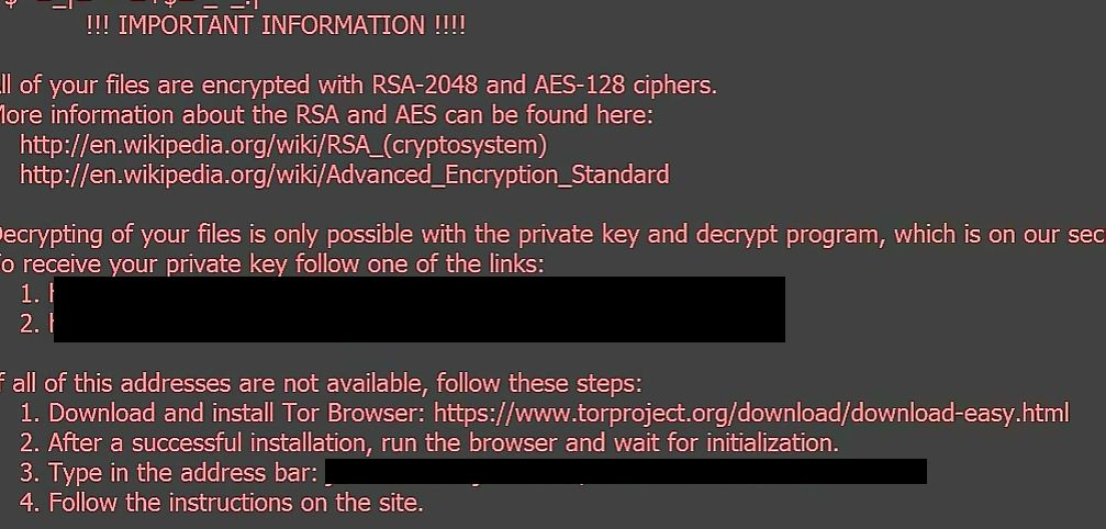 how to remove thor files encrypted locky ransomware