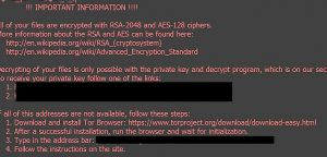 How to remove .Aesir virus (Locky Ransomware Removal)