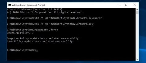 Group policy reset Windows 10