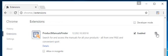 Remove ProductManualsFinder toolbar by MyWay (Removal Guide)