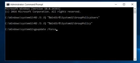 Reset Group policy Windows