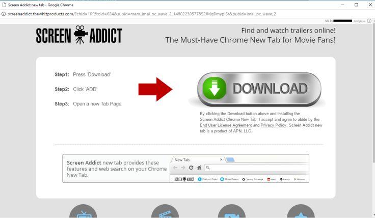 ScreenAddict.thewhizproducts.com virus