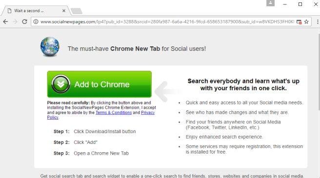 Socialnewpages.com virus