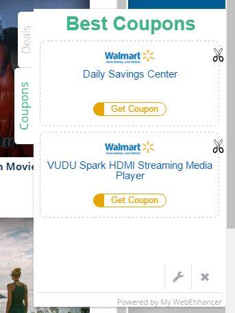 Ads by My WebEnhancer virus