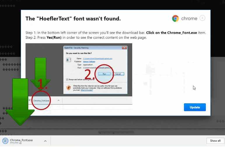 How to remove Chrome_Font exe adware (Virus Removal Guide)