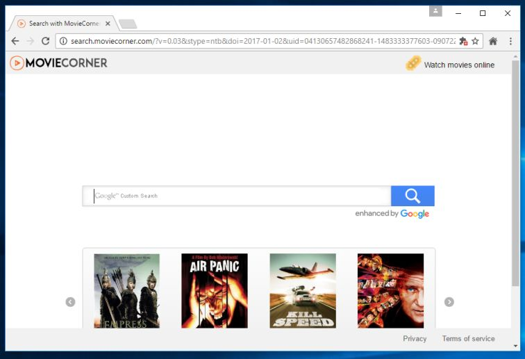 search.moviecorner.com virus