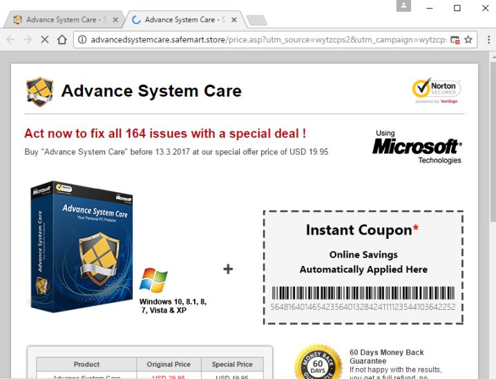 advanced security care antivirus