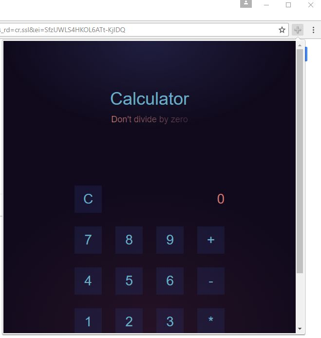 Remove Calculator extension by calculatorfree pro (Virus
