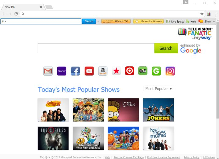 How to remove TelevisionFanatic (Chrome, Firefox, IE and Edge)