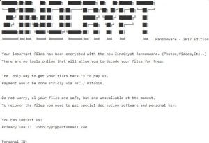 How to remove ZinoCrypt ransowmare (.ZINO Files Encrypted)