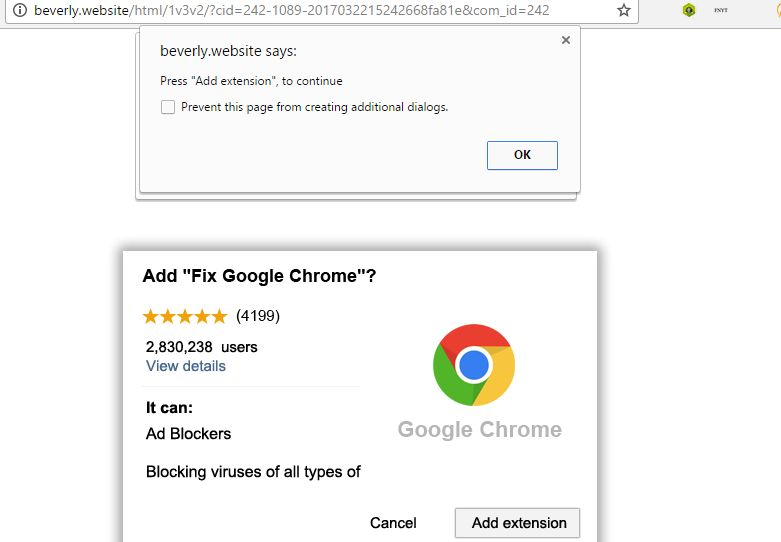 Remove Random Luck extension by beverly website (Chrome Scam)