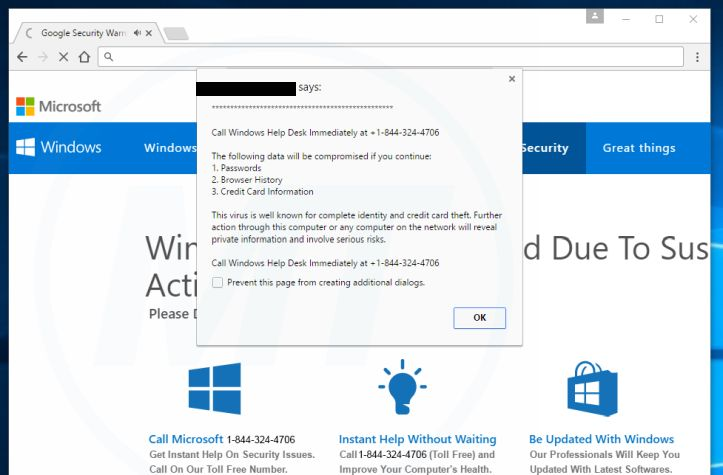 Call Windows Help Desk Immediately Virus