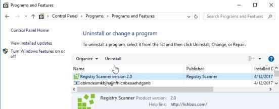 Uninstall Registry Scanner