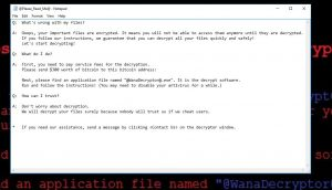 Remove Wana Decrypt0r 2.0 ransomware (.WNCRY Files Encrypted)