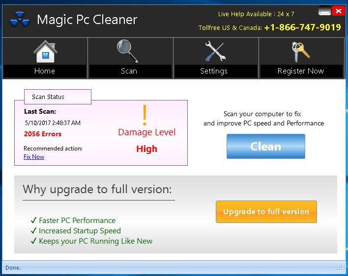 Magic PC Cleaner Virus